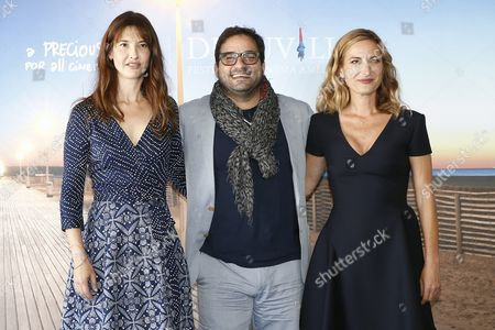 (l-r) French Actress Alexia Landeau Us Actor Russell Steinberg and Us Film Director Zoe Cassavetes Pose For the Photographers During the Photocall For Her Movie 'Day out of Days' at the 41st Annual Deauville American Film Festival in Deauville France 07 September 2015 the Festival Runs From 04 to 13 September France Deauville