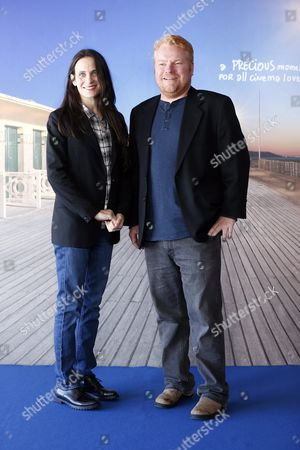 Us Screenwriter Amy Koppelman (l) and Canadian Producer Mike Harrop Pose For the Photographers During the Photocall For Her Movie 'I Smile Back' During the 41st Annual Deauville American Film Festival in Deauville France 06 September 2015 the Festival Runs From 04 to 13 September France Deauville