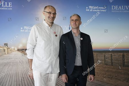 Stock Photo of French Producer Marc Olry (l) and French Filmmaker Pierre Filmon Pose During the Photocall of 'Close Encounters' During the 42nd Deauville American Film Festival in Deauville France 03 September 2016 the Festival Runs From 02 to 11 September France Deauville