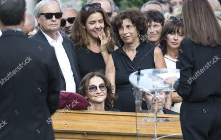 Nathalie Rykiel Daughter of the Late French Fashion Designer Sonia Rykiel (bottom-c) Attends Her Mother's Funeral at the Montparnasse Cemetery in Paris France 01 September 2016 Rykiel Died on 25 August 2016 at the Age of 86 France Paris