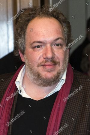 Goncourt Literary Price 2015 Laureate French Writer Mathias Enard Poses As He Just Received His Price For His Novel 'Boussole' at the Restaurant Drouant in Paris France 03 November 2015 France Paris