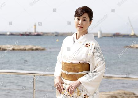 Japanese Actress Reiko Takashima Poses During a Photocall For the Tv Series 'Guardian of the Spirit' at the International Audiovisual and Digital Content Market Miptv 2016 Held at the Festival Palace in Cannes France 05 April 2016 the Miptv Which Runs From 04 to 07 April is One of the World's Leading International Trade Events Dedicated to International Television Programs and to Digital Content and Interactive Entertainment For All Platforms France Cannes