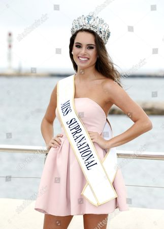 Paraguay Model Stephania Vasquez Stegman Miss Supranational Poses During a Photocall at the International Audiovisual and Digital Content Market Miptv 2016 Held at the Festival Palace in Cannes France 04 April 2016 the Miptv Which Runs From 04 to 07 April is One of the World's Leading International Trade Events Dedicated to International Television Programs and to Digital Content and Interactive Entertainment For All Platforms France Cannes