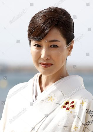 Stock Picture of Japanese Actress Reiko Takashima Poses During a Photocall For the Tv Series 'Guardian of the Spirit' at the International Audiovisual and Digital Content Market Miptv 2016 Held at the Festival Palace in Cannes France 05 April 2016 the Miptv Which Runs From 04 to 07 April is One of the World's Leading International Trade Events Dedicated to International Television Programs and to Digital Content and Interactive Entertainment For All Platforms France Cannes