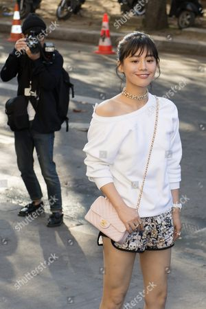 Ma Sichun Arrives For the Presentation of the Spring/summer 2016/2017 Collection by German Designer Karl Lagerfeld For Chanel Fashion House During the Paris Fashion Week in Paris France 04 October 2016 the Presentation of the Women's Collections Runs From 27 September to 05 October France Paris