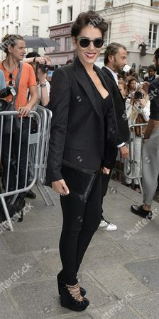 French Moroccan Singer Sofia Essaidi Leaves the Presentation of the Fall/winter 2015/2016 Haute Couture Collection by French Designer Jean Paul Gaultier During the Paris Fashion Week in Paris France 08 July 2015 the Presentation of the Haute Couture Collections Runs From 05 to 09 July France Paris