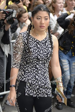 Stock Photo of Thai Princess Siriwanwaree Nareerat Leaves the Presentation of the Fall/winter 2015/2016 Haute Couture Collection by French Designer Jean Paul Gaultier During the Paris Fashion Week in Paris France 08 July 2015 the Presentation of the Haute Couture Collections Runs From 05 to 09 July France Paris