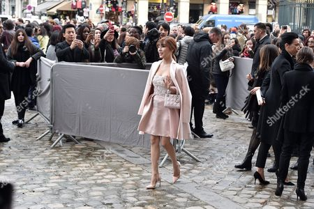 Us Singer of Kpop Band Girls' Generation Tiffany Hwang Arrives For the Presentation of the Fall/winter 2016/17 Ready to Wear Collection of Dior Fashion House During the Paris Fashion Week in Paris France 04 March 2016 This Dior Show is the First Ready-to-wear Show Since Former Creative Director Raf Simons Quit in October 2015 the Presentation of the Women's Collections Runs From 01 March to 09 March France Paris