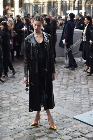 Us Born British Model Lily Mcmenamy Arrives For the Presentation of the Fall/winter 2016/17 Ready to Wear Collection of Dior Fashion House During the Paris Fashion Week in Paris France 04 March 2016 This Dior Show is the First Ready-to-wear Show Since Former Creative Director Raf Simons Quit in October 2015 the Presentation of the Women's Collections Runs From 01 March to 09 March France Paris