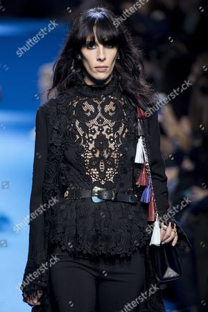 Us Model Jamie Bochert Presents a Creation From the Fall/winter 2016/17 Ready to Wear Collection by Lebanese Designer Elie Saab During the Paris Fashion Week in Paris France 05 March 2016 the Presentation of the Women's Collections Runs From 01 March to 09 March France Paris