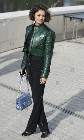 Brazilian Actress Sophie Charlotte Departs After Attending the Presentation of the Spring/summer 2016 Ready to Wear Collection by French Designer Nicolas Ghesquiere During the Paris Fashion Week in Paris France 07 October 2015 the Presentation of the Womens Collections Runs From 29 September to 07 October France Paris