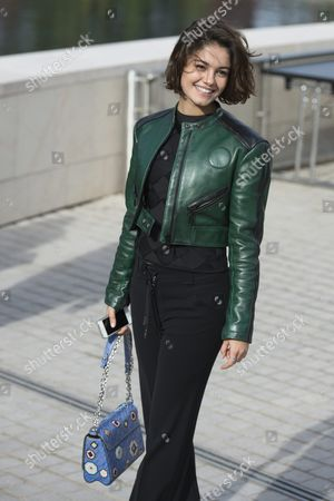 Stock Image of Brazilian Actress Sophie Charlotte Departs After Attending the Presentation of the Spring/summer 2016 Ready to Wear Collection by French Designer Nicolas Ghesquiere During the Paris Fashion Week in Paris France 07 October 2015 the Presentation of the Womens Collections Runs From 29 September to 07 October France Paris