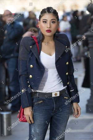 Stock Picture of Thai Princess Siriwanwaree Nareerat Arrives For the Presentation of the Spring/summer 2016 Ready to Wear Collection by French Designer Nicolas Ghesquiere For Louis Vuitton During the Paris Fashion Week in Paris France 05 October 2016 the Presentation of the Women's Collections Runs From 27 September to 05 October France Paris