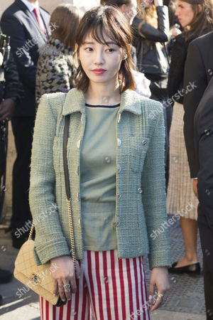 Chinese Actress Bai Baihe Arrives For the Presentation of the Spring/summer 2016/2017 Collection by German Designer Karl Lagerfeld For Chanel Fashion House During the Paris Fashion Week in Paris France 04 October 2016 the Presentation of the Women's Collections Runs From 27 September to 05 October France Paris