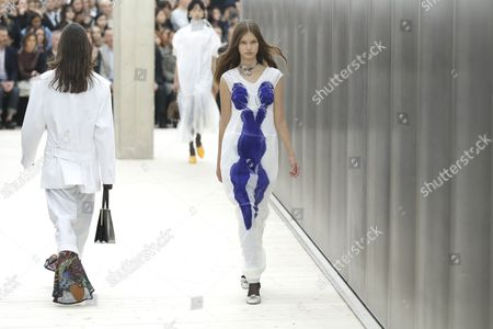 Models Present Creations From the Spring/summer 2017 Ready to Wear Collection by British Designer Phoebe Philo For Celine During the Paris Fashion Week in Paris France 02 October 2016 the Presentation of the Womens Collections Runs From 27 September to 05 October France Paris