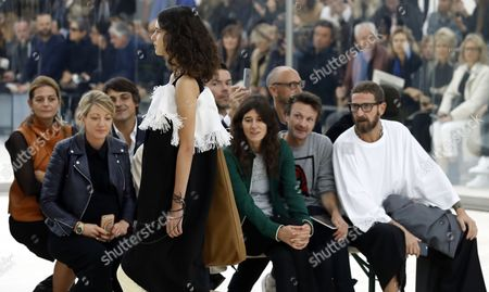 A Model Presents a Creation From the Spring/summer 2016 Ready to Wear Collection by British Designer Phoebe Philo For Celine During the Paris Fashion Week in Paris France 02 October 2016 the Presentation of the Womens Collections Runs From 27 September to 05 October France Paris