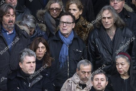French Tv Host Julien Lepers (c) Leaves the Saint Sulpice Church After a Funeral Ceremony For French Singer Michel Delpech Prior to His Burial in Paris France 08 January 2016 Delpech Died Aged 69 on 02 January 2016 After Suffering From Cancer France Paris