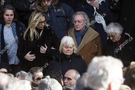 French Singer Didier Barbelivien (c) Leaves the Saint Sulpice Church After a Funeral Ceremony For French Singer Michel Delpech Prior to His Burial in Paris France 08 January 2016 Delpech Died Aged 69 on 02 January 2016 After Suffering From Cancer France Paris