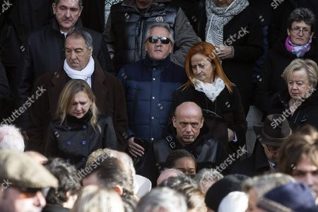 French Singer Gilbert Montagne (c) Leaves the Saint Sulpice Church After a Funeral Ceremony For French Singer Michel Delpech Prior to His Burial in Paris France 08 January 2016 Delpech Died Aged 69 on 02 January 2016 After Suffering From Cancer France Paris