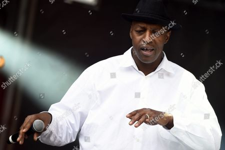 Hip Hop Musician Oxmo Puccino From Mali Performs with the Tony Allen Review During a Concert at the 24th Annual Les Vieilles Charrues Festival in Carhaix France 18 July 2015 the Music Festival Runs From 16 to 19 July France Carhaix