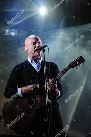 Gaetan Roussel Singer/guitarist of French Band Louise Attaque Performs During a Concert at the 25th Annual Les Vieilles Charrues Festival in Carhaix France 16 July 2016 the Music Festival Runs From 14 to 17 July France Carhaix