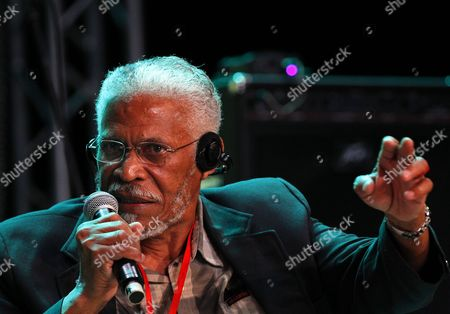 William 'Balde' Howell Son of Leonard Howell Founder of the Reggae Movement Speaks During a Symposium at the Second Edition of the International Festival of Abidjan Reggae Know As Abi-reggae at the Palace of Culture in Abidjan Ivory Coast 08 April 2016 the Reggae Festival Brings Together Leading Reggae Artists From Around the World Between 7 to 10 April Cote D'ivoire Abidjan