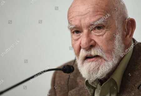 South African Playwright Athol Fugard Attends a Press Conference For the 26th Praemium Imperiale in Tokyo Japan 14 October 2014 the Praemium Imperiale is a Global Arts Prize Awarded Annually by the Japan Art Association Five Laureates Are Nominated in the Fields of Painting Sculpture Architecture Music and Theatre/film For Its 26th Edition the Praemium Imperiale Awards Have Been Given to French Painter Martial Raysse Italian Sculptor Giuseppe Penone Us Architect Steven Holl South African Playwright Athol Fugard and Estonian-born Composer Arvo Part Japan Tokyo