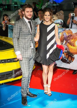 Irish Actor/cast Member Jack Reynor (l) Poses with His Fiance Irish Model Madeline Mulqueen (r) Arrive For the Premiere of 'Transformers: Age of Extinction' in Tokyo Japan 28 July 2014 the Movie Will Be Released in Japanese Movie Theaters on 08 August Japan Tokyo