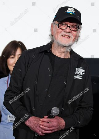 Stock Photo of Australian Actor Vincent Gil From the Original 1979 Mad Max Movie Speaks During a Stage Greeting For 'Mad Max: Fury Road' in Tokyo Japan 05 June 2015 the Movie Will Be Released in Theaters Across Japan on 20 June Japan Tokyo