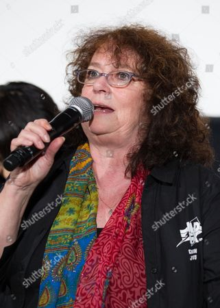 Stock Image of Australian Actress Joanne Samuel From the Original 1979 Mad Max Movie Speaks During a Stage Greeting For 'Mad Max: Fury Road' in Tokyo Japan 05 June 2015 the Movie Will Be Released in Theaters Across Japan on 20 June Japan Tokyo