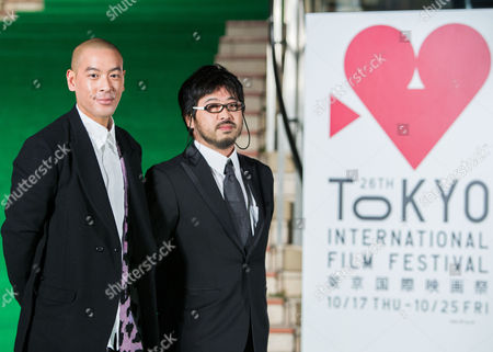 Chinese Director Juno Mak (l) and Japanese Producer Takashi Shimizu (r) For the Film 'Rigor Mortis' Attend the Opening Green Carpet Event of the 26th Tokyo International Film Festival (tiff) in Tokyo Japan 17 October 2013 the Tiff Will Show a Variety of Film Screenings Until 25 October Japan Tokyo
