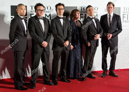 Stock Photo of Jury Members (l-r) Japanese Actor Hiroshi Shinagawa Singapore Director Eric Khoo South Korean Filmmaker John H Lee British Casting Director Debbie Mcwilliams Australian Filmaker Robert Luketic and Us Actor-director James Gunn Attend the Opening Red Carpet Event of the 27th Tokyo International Film Festival (tiff) in Tokyo Japan 23 October 2014 the Tiff Will Show a Variety of Film Screenings Until 31 October Japan Tokyo