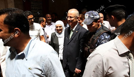 Dr Rami Hamdallah (c) Linguistics Professor and President of An-najah National University During His Visit to Nablus Court in Nablus the West Bank 04 June 2013 Palestinian President Mahmoud Abbas Named Rami Hamdallah to Replace Salam Fayyad As Prime Minister on 03 June - Nablus