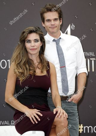 Us Actors Greg Rikaart (r) and Amelia Heinle (l) Pose During a Photocall For the Tv Series 'The Young and the Restless' at the 54th Monte Carlo Television Festival in Monaco 09 June 2014 the Festival Runs From 07 to 11 June Monaco Monaco