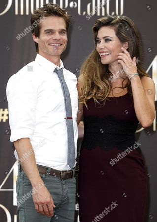 Us Actors Greg Rikaart (l) and Amelia Heinle (r) Pose During a Photocall For the Tv Series 'The Young and the Restless' at the 54th Monte Carlo Television Festival in Monaco 09 June 2014 the Festival Runs From 07 to 11 June Monaco Monaco