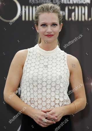 Stock Photo of Canadian Actress Andrea Joy Cook Poses During a Photocall For the Tv Series 'Criminal Minds' at the 54th Monte Carlo Television Festival in Monaco 09 June 2014 the Festival Runs From 07 to 11 June Monaco Monaco