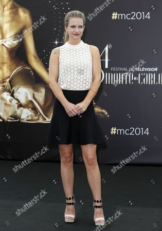 Stock Image of Canadian Actress Andrea Joy Cook Poses During a Photocall For the Tv Series 'Criminal Minds' at the 54th Monte Carlo Television Festival in Monaco 09 June 2014 the Festival Runs From 07 to 11 June Monaco Monaco