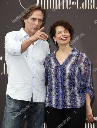 Us Actor William Fichtner (l) and German Producer Rola Bauer (r) Pose During a Photocall For the Tv Series 'Crossing Lines' at the 54th Monte Carlo Television Festival in Monaco 10 June 2014 the Festival Runs From 07 to 11 June Monaco Monaco