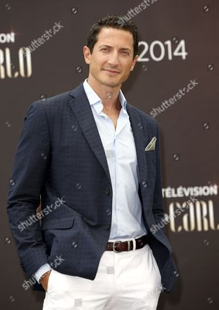 Israeli Actor Sasha Roiz Poses During a Photocall For the Tv Series 'Grimm' at the 54th Monte Carlo Television Festival in Monaco 9 June 2014 the Festival Runs From 07 to 11 June Monaco Monaco
