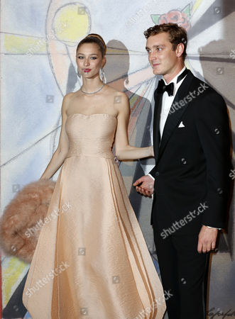 Pierre Casiraghi Arrives with His Girlfriend Countess Beatrice Boromeo at the 'Bal De La Rose' (rose Ball) For the 50th Anniversary of Princess Grace Foundation in Monaco 29 March 2014 the 'Bal De La Rose' is a Traditional Annual Charity Event in the Principality of Monaco Monaco Monaco
