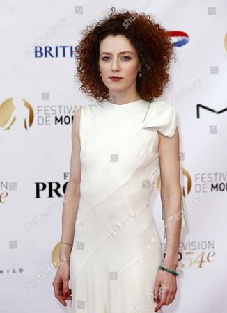 French Actress Blandine Bellavoir Poses on the Red Carpet While Arriving For the Opening Ceremony of the Monte Carlo Television Festival in Monaco 07 June 2014 the Event Will Take Place From 07 to 11 June Monaco Monaco