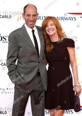 Us Actor Miguel Ferrer and His Wife Lori Weintraub Pose on the Red Carpet While Arriving For the Opening Ceremony of the Monte Carlo Television Festival in Monaco 07 June 2014 the Event Will Take Place From 07 to 11 June Monaco Monaco