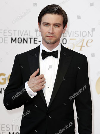 Canadian Actor Torrance Coombs Poses During the Closing Ceremony of the 54th Monte Carlo Television Festival in Monaco 11 June 2014 Monaco Monaco