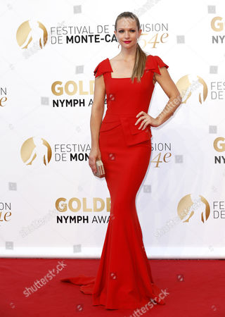 Stock Picture of Canadian Actress Andrea Joy Cook Poses During the Closing Ceremony of the 54th Monte Carlo Television Festival in Monaco 11 June 2014 Monaco Monaco