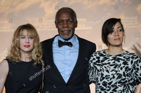 Canadian Actress Marie-josee Croze (l) Us Actor Danny Glover (c) and Moroccan Actress Tala Hadid Pose For Photographers During 'The Narrow Frame of Midnight' Photocall As Part of 14th Annual Marrakech International Film Festival in Marrakech Morocco 08 December 2014 the Festival Runs From 05 to 13 December Morocco Marrakech