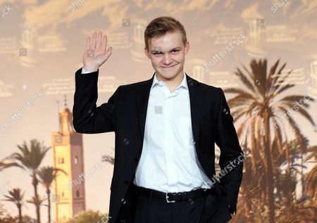 Stock Image of Swiss Actor Benjamin Lutzke Poses During the Photocall For 'Chrieg' at the 14th Annual Marrakech International Film Festival in Marrakech Morocco 11 December 2014 the Festival Runs From 05 to 13 December Morocco Marrakech