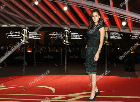 Stock Photo of French Actress Sarah Kazemy Arrives For a Tribute to Scandinavian Cinema at the 13th Annual Marrakech International Film Festival in Marrakech Morocco 04 December 2013 the Festival Runs From 29 November to 07 December Morocco Marrakech