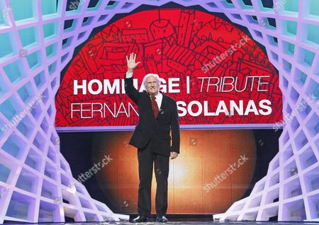 Argentinian Film Director Fernando Solanas Attends a Ceremony to Receive His Award For His Tribute During the 13th Annual Marrakech International Film Festival in Marrakech Morocco 05 December 2013 the Festival Runs From 29 November to 07 December Morocco Marrakech