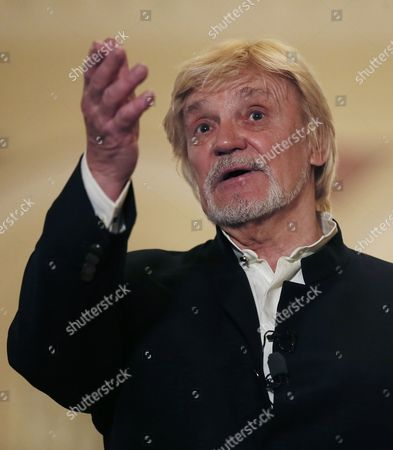 Russian Ballet Dancer Vladimir Vasiliev Attends a Press Conference in the Bolshoi Theatre in Moscow Russia 17 April 2015 the People's Artist of the Ussr and the Russian Federation Ballet Dancer Vladimir Vasiliev Celebrates His 75th Birthday on 18 April and Will Be Presenting His Performance 'Dona Nobis Pacen' (grant Us Peace) at the Mass in B Minor by Sebastian Bach Russian Federation Moscow