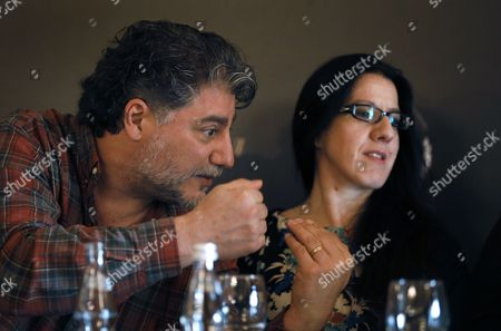 Argentina's Opera Singer Jose Cura (l) and Spanish Flamenco Dancer Maria Pahes Take Part in a Press Conference Before the Anniversary Concert 'Opera Ball' Devoted to the 75th Anniversary of of Opera Singer Elena Obraztsova in Moscow Russia 27 October 2014 the Concert Will Be Held on 28 October Russian Federation Moscow